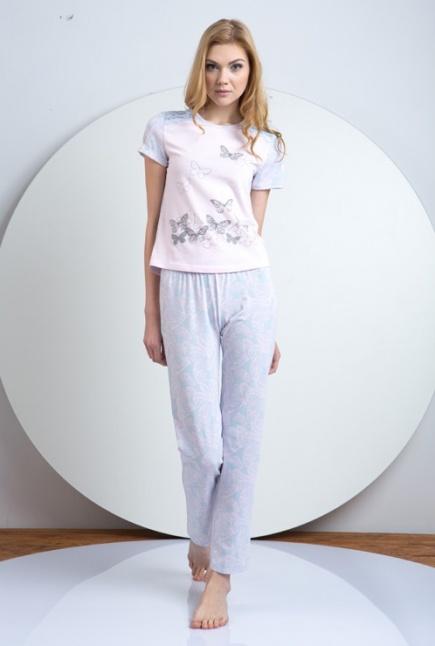 Женская хлопковая пижама футболка и штаны LNP 034/001 Ellen Ellen