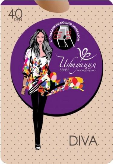 Поддерживающие колготки Diva 40den Интуиция Интуиция