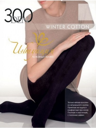 Хлопковые колготы Winter Cotton 300den Интуиция Интуиция