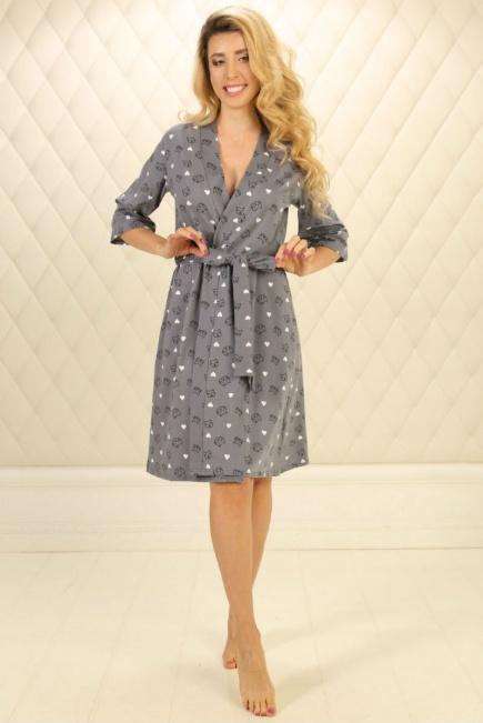 2217f151652b Велюровый халат для беременных и кормящих Ice Cream 25311 Мамин Дом ...
