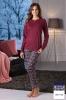 Фото - Синяя женская хлопковая пижама DD869 blu Cotonella Cotonella купить в Киеве и Украине