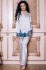 Фото - Атласная пижама с контрастным кружевом 1404 Shato (несколько цветов) Shato купить в Киеве и Украине